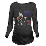 Guitar Mick Long Sleeve Maternity T-Shirt