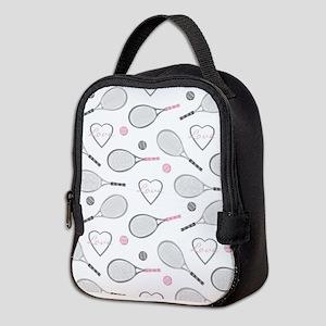 Elegant Tennis Love Pattern Grey and Pink Neoprene