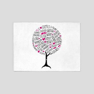 Family Tree 5'x7'Area Rug