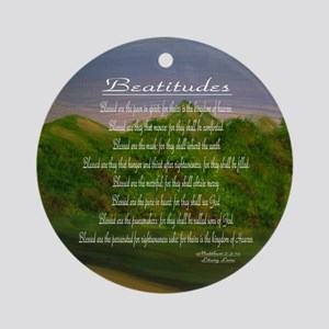 Beatitudes Green Ornament (Round)