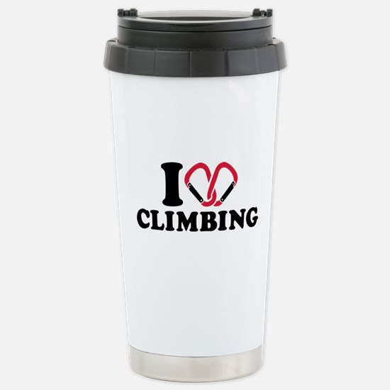 I love Climbing carabin Stainless Steel Travel Mug