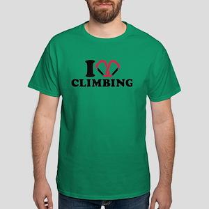 I love Climbing carabiner Dark T-Shirt