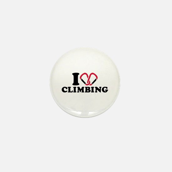 I love Climbing carabiner Mini Button