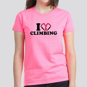 I love Climbing carabiner Women's Dark T-Shirt