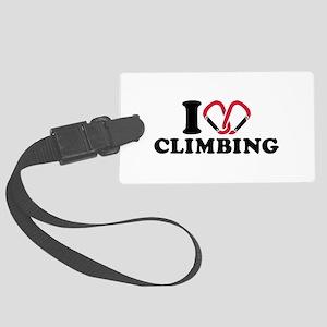 I love Climbing carabiner Large Luggage Tag