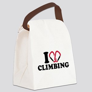 I love Climbing carabiner Canvas Lunch Bag