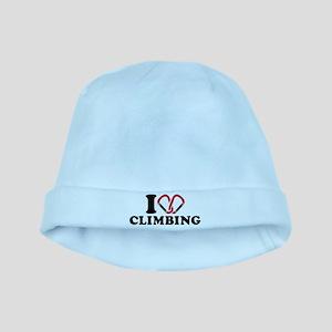 I love Climbing carabiner baby hat
