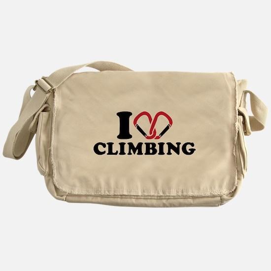 I love Climbing carabiner Messenger Bag