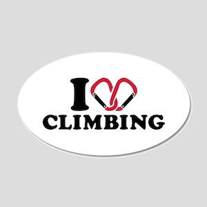 I love Climbing carabiner 20x12 Oval Wall Decal
