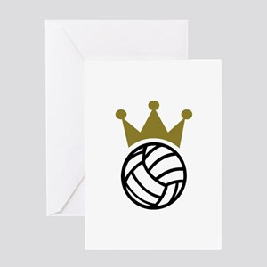 Volleyball crown champion Greeting Card