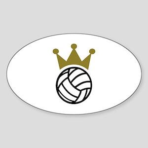 Volleyball crown champion Sticker (Oval)