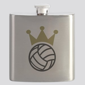 Volleyball crown champion Flask