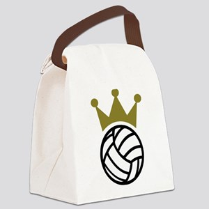 Volleyball crown champion Canvas Lunch Bag