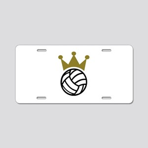 Volleyball crown champion Aluminum License Plate