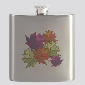 Colorful Leaves Flask
