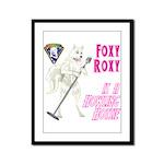 Foxy Roxy Framed Panel Print