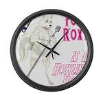 Foxy Roxy Large Wall Clock