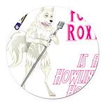 Foxy Roxy Round Car Magnet