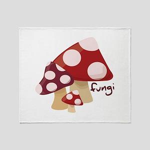 Fungi Throw Blanket