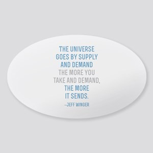 Community TV Jeff Quote Sticker (Oval)