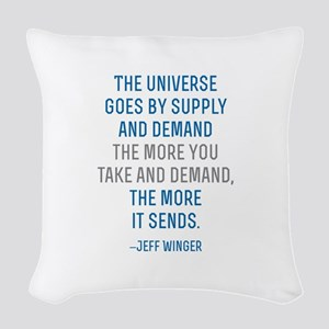 Community TV Jeff Quote Woven Throw Pillow