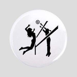 "Volleyball girls 3.5"" Button"