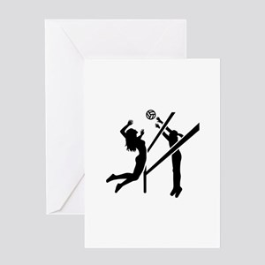 Volleyball girls Greeting Card