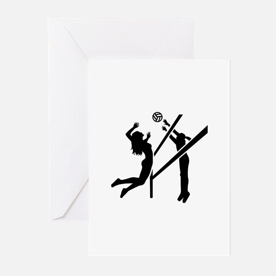 Volleyball girls Greeting Cards (Pk of 10)