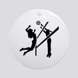 Volleyball girls Ornament (Round)