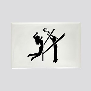 Volleyball girls Rectangle Magnet