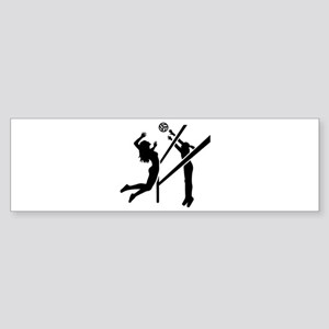Volleyball girls Sticker (Bumper)