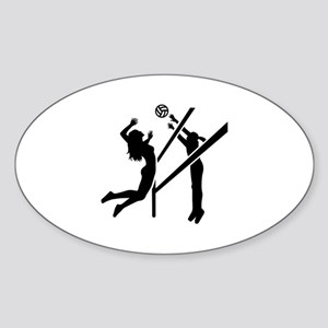Volleyball girls Sticker (Oval)