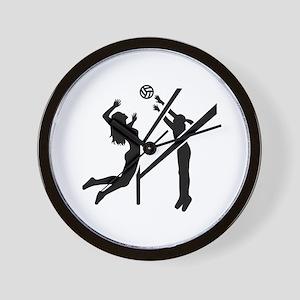 Volleyball girls Wall Clock