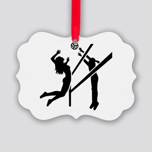 Volleyball girls Picture Ornament