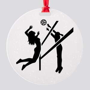 Volleyball girls Round Ornament
