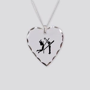Volleyball girls Necklace Heart Charm