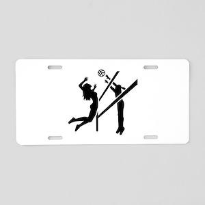 Volleyball girls Aluminum License Plate