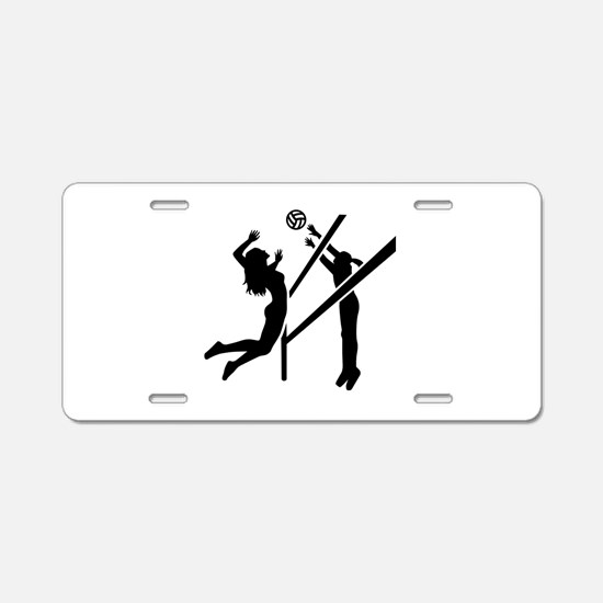Volleyball girls Aluminum License Plate