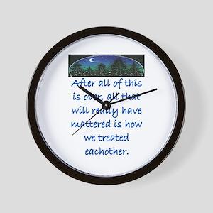 HOW WE TREAT EACH OTHER (SKYLINE) Wall Clock