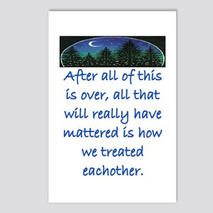 HOW WE TREAT EACH OTHER (SKYLINE) Postcards (Packa