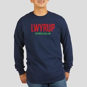 Lawyer Up Long Sleeve Dark T-Shirt