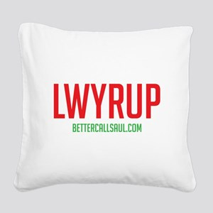 Lawyer Up Square Canvas Pillow