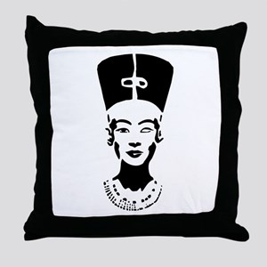 Nefertiti - Right Eye Open Throw Pillow