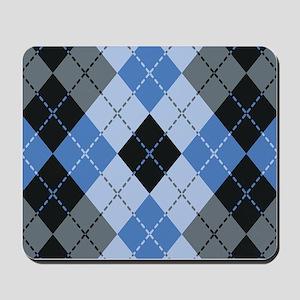 Blue Argyle Mousepad