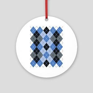 Blue Argyle Ornament (Round)