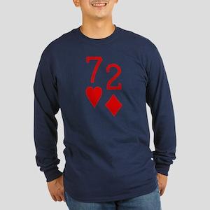 Beer Hand 7-2 Seven Deuce Poker Shirt Long Sleeve