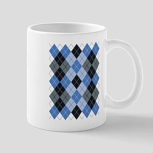Blue Argyle Mugs