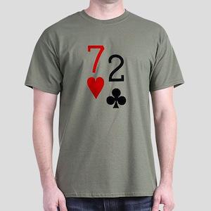 Beer Hand 7-2 Seven Deuce Poker Shirt Dark T-Shirt