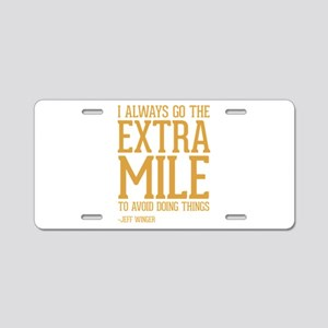 Community TV Extra Mile Aluminum License Plate