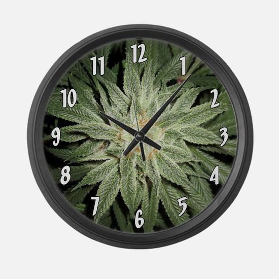 Cannabis Plant Large Wall Clock
